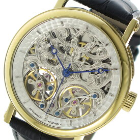 fc5f7c71f9 アルカフトゥーラ ARCA FUTURA スケルトン 自動巻き メンズ 腕時計 時計 P091601YGBK スケルトン