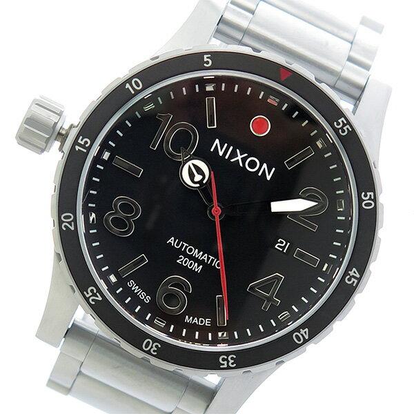 ニクソン NIXON ディプロマティック 自動巻き メンズ 腕時計 A429-000 ブラック/シルバー【送料無料】【楽ギフ_包装】