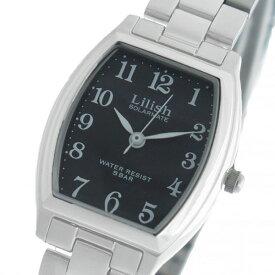 シチズン CITIZEN リリッシュ LILISH ソーラー クオーツ レディース 腕時計 時計 H051-205 ブラック/シルバー