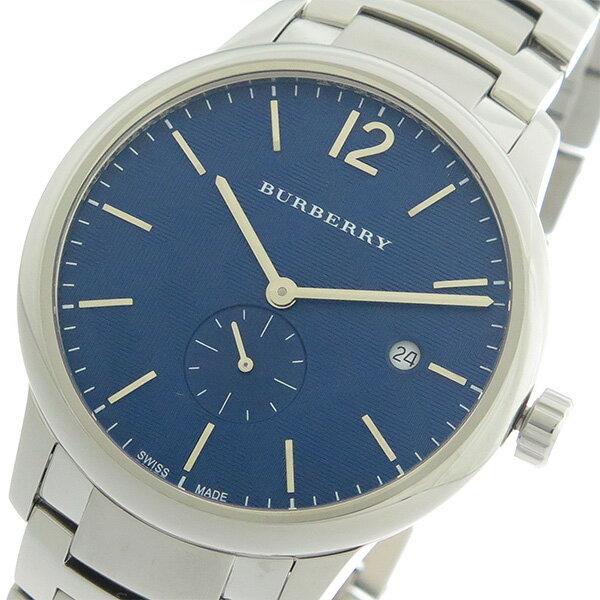 バーバリー BURBERRY クオーツ メンズ 腕時計 BU10007 ネイビー/シルバー【送料無料】【楽ギフ_包装】