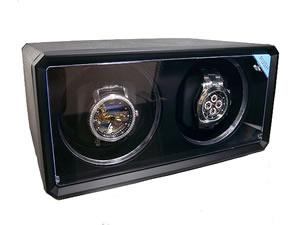 ワインダー/ワインディングマシーン 2本巻き ABSレザー ブラックH2