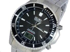 エルジン ELGIN ソーラー 電波 メンズ チタン 腕時計 時計 FK1396TI-BP【送料無料】