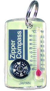 【MIZAR-TEC】ミザールテック ジッパーコンパス 温度計付 クリア 日本製 NO15A /10点入り(代引き不可)【送料無料】