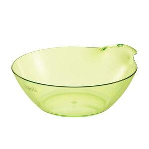 リッチェル カラリ 湯おけ HG OG オリーブグリーン 洗面器 風呂桶 バスボウル おしゃれ 透明 クリア 日本製 お手入れ簡単
