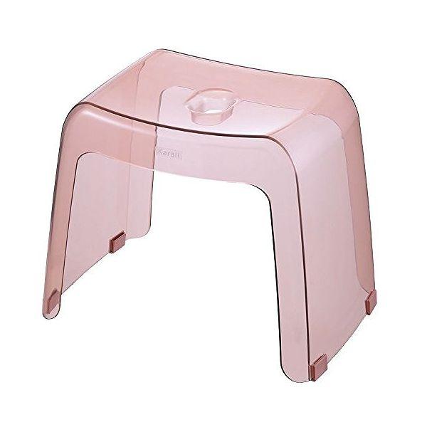 リッチェル 風呂椅子 カラリ 腰かけ 高さ30cm クリアピンク ( 風呂 イス バスチェア )(代引不可)【送料無料】
