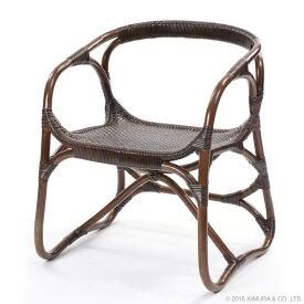ラタン 手編み パーソナルチェア 籐家具 チェア 座椅子 インテリア イス 椅子 腰かけ 1人掛け アジアン 和風 手作り エスニック 東南アジア風 リビング(代引不可)【送料無料】