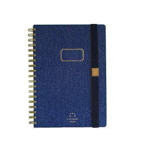 TOOLS DENIM NOTEBOOKS B5 NAVY ノート B5 リングノート 罫線 再生紙(代引不可)