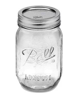 正規品 メイソンジャー Ball Mason jar 16oz 6個セット レギュラーマウス オリジナル クリア mason1 約480ml【あす楽対応】【送料無料】