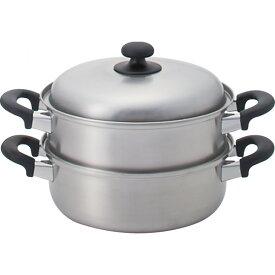 燕三 三層鋼二段蒸し器(24 cm ) 燕三 鍋ケトルフライパン 多層鋼ステン鍋 蒸し鍋 EM-8127(代引不可)