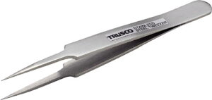 TRUSCO 高精度ステンレス製ピンセット 115mm 非磁性 極細鋭型【TSP-74】(はんだ・静電気対策用品・ピンセット)