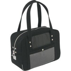 SANEI 帆布メール用ボストン(S)馬蹄錠金具付 黒 BTSU01【送料無料】