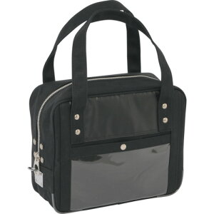 SANEI 帆布メール用ボストン(SS)馬蹄錠金具付 黒 BTSSU01