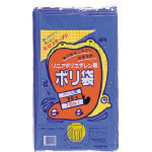 積水 90型ポリ袋 青 #7−1【N-9707】(清掃用品・ゴミ袋)