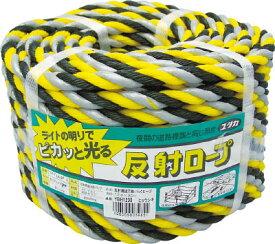ユタカ ロープ 反射標識万能パックロープ 12φ×30m ヒョウシキ【YBH1230】(安全用品・標識・カラーコーン)