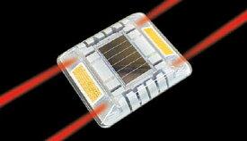 キャットアイ ルミナスアイ・マイティ ソーラー式点滅 両面 赤【LE-260R】(安全用品・標識・工事灯)