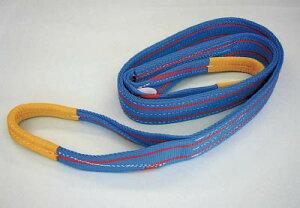 TESAC ブルースリング(JIS3等級・両端アイ形)【3E50X6】(吊りクランプ・スリング・荷締機・ベルトスリング)