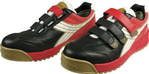 ディアドラ DIADORA 安全作業靴 ロビン 黒/白/赤 27.0cm【RB213-270】(安全靴・作業靴・プロテクティブスニーカー)