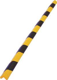 TRUSCO 安心クッションL字型小 黒・黄 1本入り【TAC-100】(安全用品・標識・安全クッション)