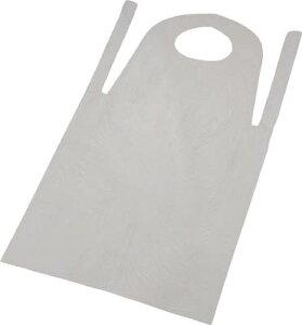 TRUSCO PE使い捨てエプロン50枚入 サイズフリー ホワイト【TAPE-W】(保護具・保護服)