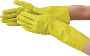 TRUSCO 天然ゴム手袋 中厚手タイプ グリ−ン Lサイズ【DPM-5495-G-L】(作業手袋・天然ゴム手袋)