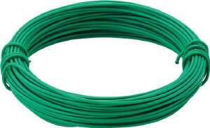 TRUSCO カラー針金 小巻タイプ・20番手 緑 線径0.9mm TCWS09GN