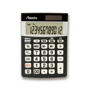 アスカ(Asmix)消費税電卓(S)ブラックC1226BK【RCP】