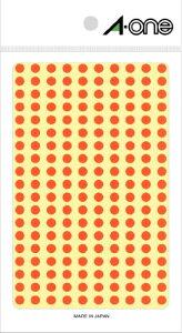 エーワン カラーラベル5MM 07065オレンジマル