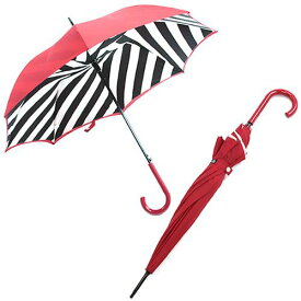 フルトン L723 023884 Bloomsbury-2 Diagonal Stripe 「Lulu Guinness」ルルギネス コラボモデル ワンタッチ ジャンプ傘 自動開き 長傘 2重構造 ブルームズバリー アンブレラ