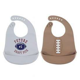 Hudson Baby ハドソンベビー シリコンエプロン 2枚セット フットボール CON-BVS-56038