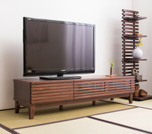 格子テレビボードW150テレビボード幅150cmローボードテレビ台無垢完成品木製北欧ナチュラルTVボード32型テレビ台(代引不可)【送料無料】【smtb-f】