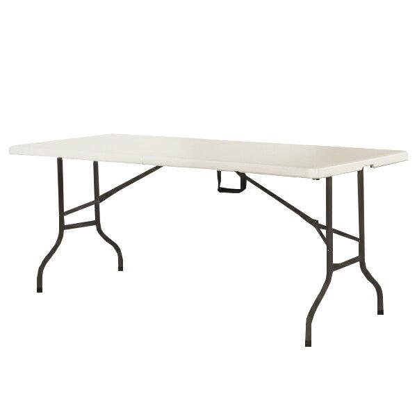 折り畳み式アウトドアテーブル アウトドアテーブル 折りたたみ 頑丈 大型 幅180×奥行75cm レジャーテーブル(代引不可)【送料無料】【smtb-f】