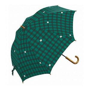 mikuni ミクニ 長傘 Umbrella ギンガム グリーン 60cm GG-04992 傘 雨傘 梅雨 雨 カサ おしゃれ(代引不可)