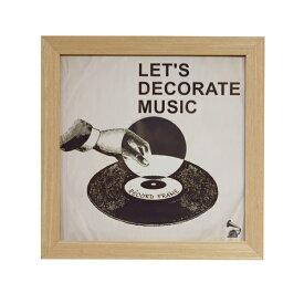 レコードフレーム レコードジャケットフレーム 額縁 壁面装飾 ウォールデコ 36×36 木製 おしゃれ インダストリアル 西海岸(代引不可)【送料無料】