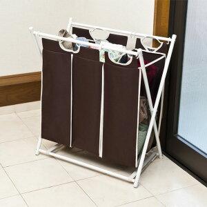 折畳みランドリーボックス 3杯 KY-600032 ランドリー収納 洗濯カゴ 洗濯 収納 サニタリー 折り畳み バッグ ボックス スリム 角型【送料無料】