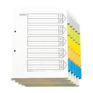 キングジム カラーインデックスA4S(100組) 1 箱 907-100 文房具 オフィス 用品