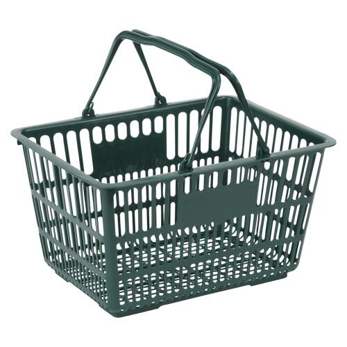 ナンシン ショッピングバスケット ダークグリーン305×400 1 個 SWD-18 文房具 オフィス 用品