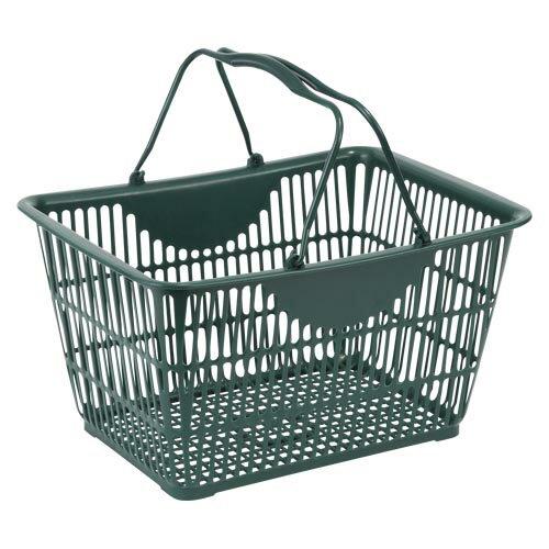 ナンシン ショッピングバスケット ダークグリーン340×470 1 個 SW-28 文房具 オフィス 用品