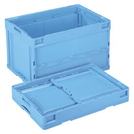 岐阜プラスチック工業 折畳みコンテナー 蓋なし ブルー 1 個 CB-S51NR(ブルー) 文房具 オフィス 用品