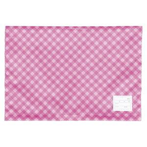 ナカバヤシ 防災ずきんカバー チェックタイプ ピンク 1個