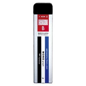 トンボ鉛筆 シャープ芯 モノグラフ 0.3 B モノカラー 1個