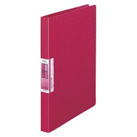 LIHIT LAB AQUA Window パンチレスファイル A4 赤 1冊
