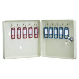 カール事務器 キーボックス コンパクトタイプ 10個収納 アイボリー CKB-C10-I 1個