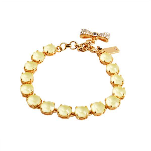 KATE SPADE(ケイトスペード) WBRUB814-797 Light Yellow リボンチャーム付 スワロフスキークリスタル ブレスレット Fancy That Bracelet【代引不可】
