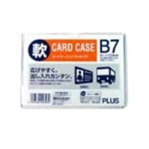 (まとめ買い)プラス 再生カードケース ソフト B7 PC-317R 【×30セット】