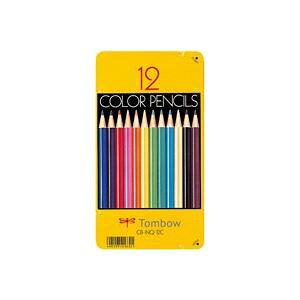 (まとめ買い)トンボ鉛筆 色鉛筆 CB-NQ12C 12色 缶入 【×5セット】