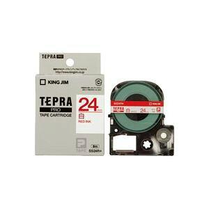 (まとめ買い)キングジム テプラPROテープ SS24R 白に赤文字 24mm 【×3セット】