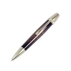 日本製 Air Brush Wood Pen キャンディカラー ボールペン(ギター塗装)【パーカータイプ/芯:0.7mm】Purple/カーリーメイプル【送料無料】