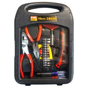 (業務用20セット)TRAD 工具セット/作業工具 【19個入】 TS-19 〔業務用/家庭用/DIY/日曜大工〕【×20セット】【送料無料】