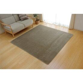 ラグ カーペット 3畳 洗える 抗菌 防臭 無地 『ピオニー』 ベージュ 約200×250cm (ホットカーペット対応)