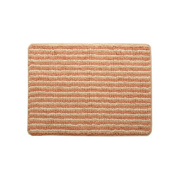 バスマット 洗える 抗菌防臭 吸水 部屋干しOK 『プラチナクリーン ナリ』 ローズ 約35×50cm